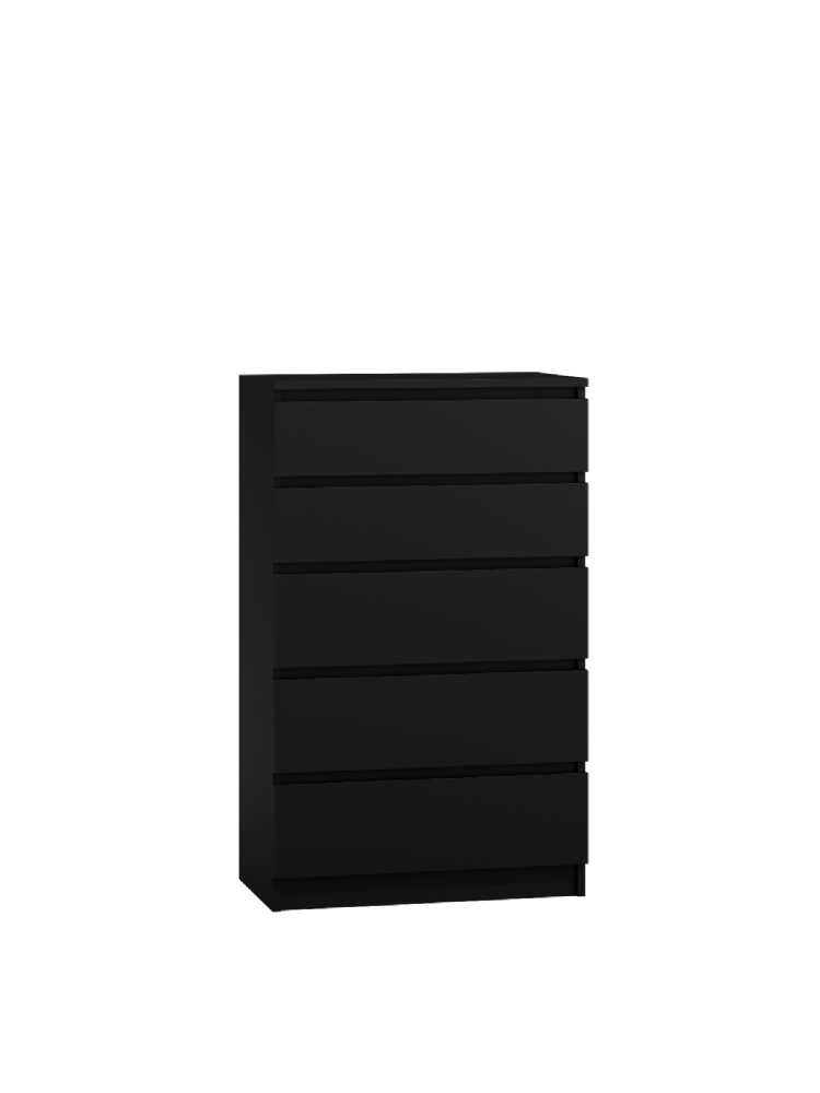 Moderna Black - 5 Drawer